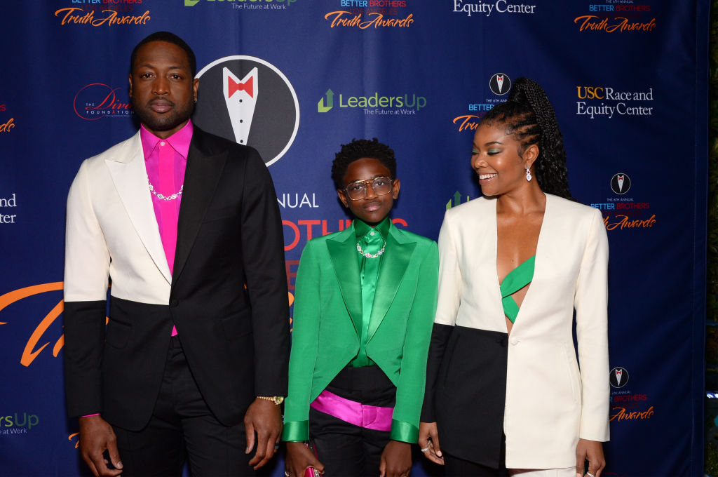 Dwyane Wade, Zaya Wade and Gabrielle Union attend the Better Brothers Los Angeles 6th annual Truth Awards at Taglyan Complex