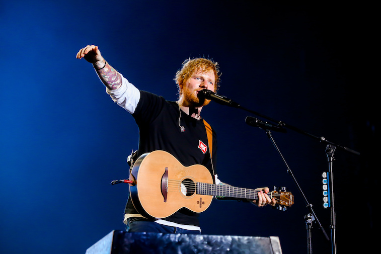 Ed Sheeran performs onstage