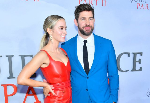 John Krasinski and Emily Blunt at the world premiere of 'A Quiet Place Part II'