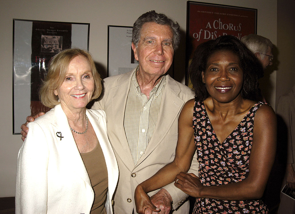 Eva Marie Saint, Jeffrey Hayden and Elayn J. Taylor (far right) | Barry King/WireImage