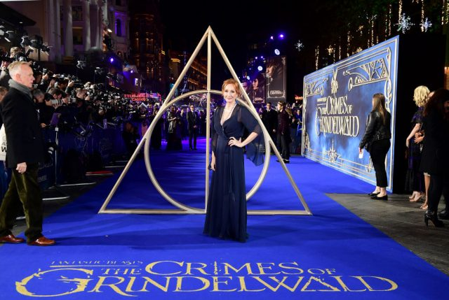 J.K. Rowling at the 'Fantastic Beasts: The Crimes of Grindelwald'