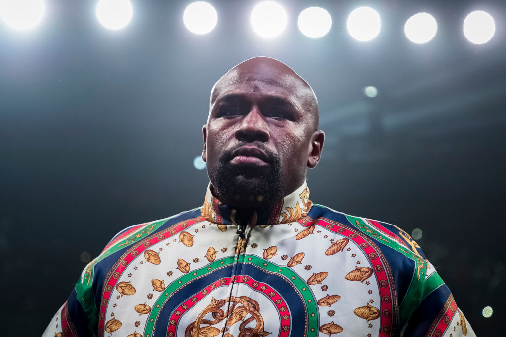 Floyd Mayweather Jr. at an event in 2019