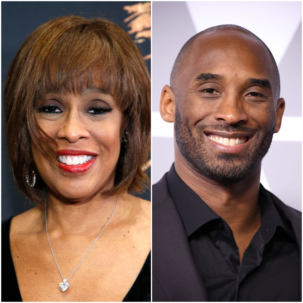 Gayle King and Kobe Bryant