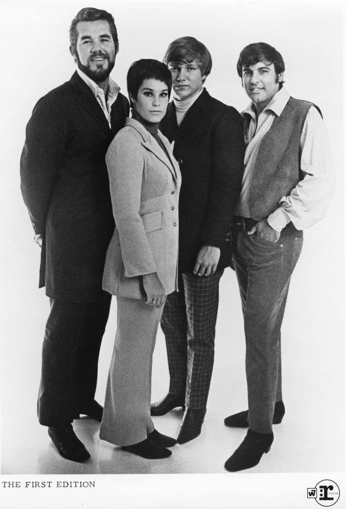 Kenny Rogers and The First Edition, 1967: Kenny Rogers, Mike Settle, Thelma Camacho, and Terry Williams