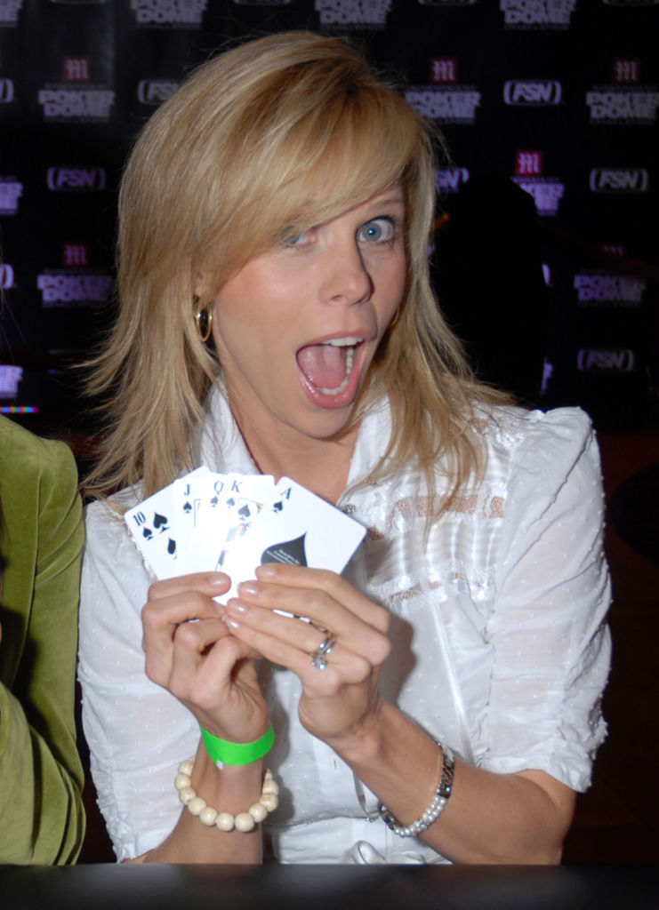 """Cheryl Hines during Mansionpoker.net Hosts The """"Poker Dome Challenge"""" Launch Party 2006 in Las Vegas"""