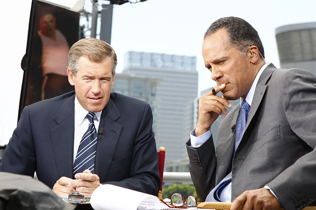 Brian Williams and Lester Holt