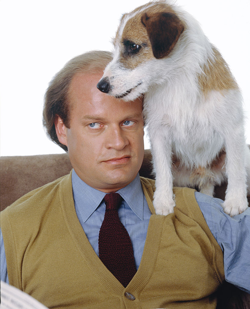 'Eddie' the dog and Kelsey Grammer as Frasier Crane