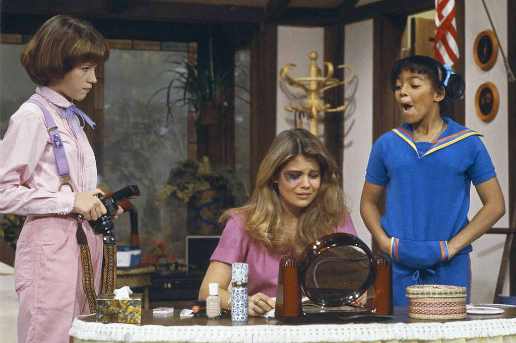 Molly Ringwald, Lisa Whelchel, and Kim Fields in a scene from 'The Facts of Life', 1980