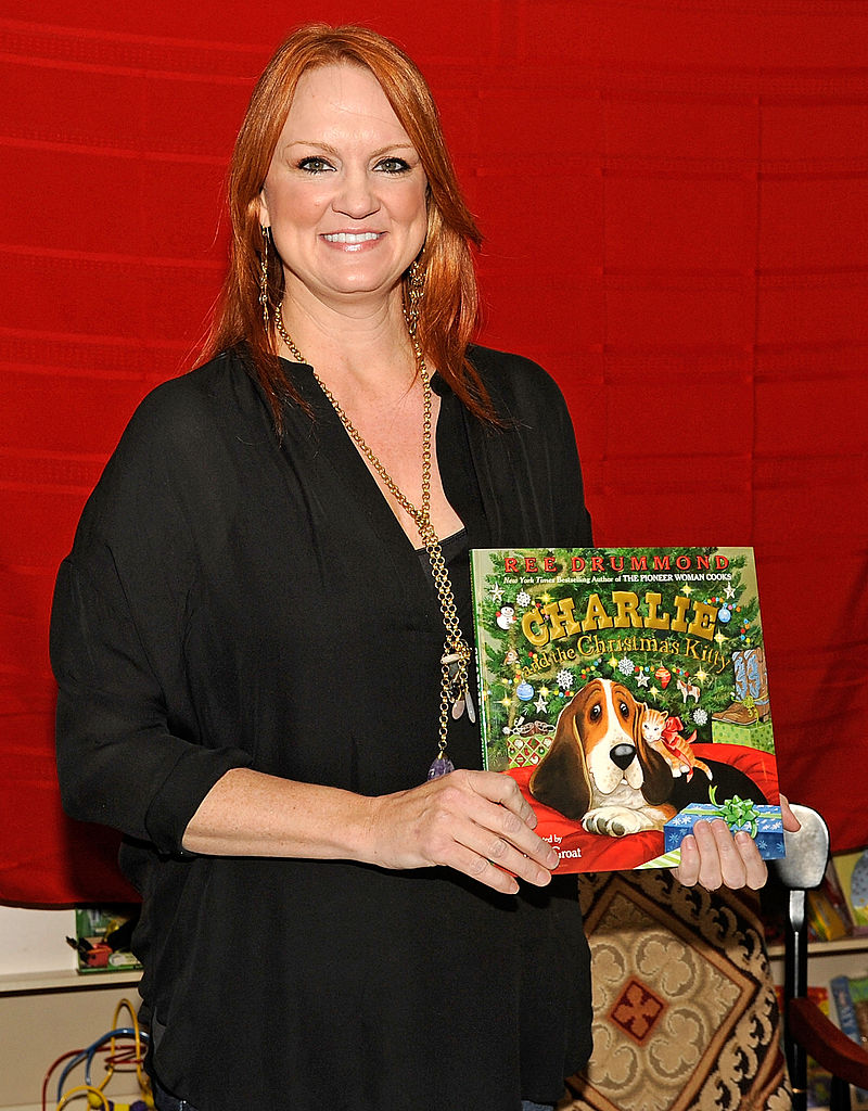 Ree Drummond with a title from her 'Charlie the Ranch Dog' children's book series
