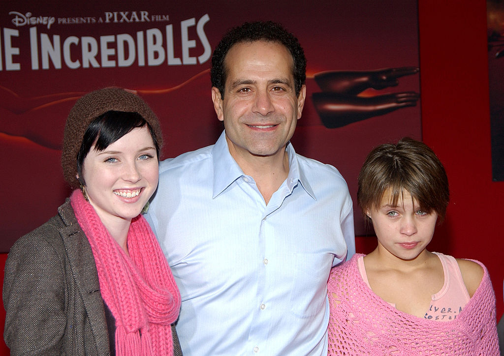 Tony Shalhoub and daughters in 2004