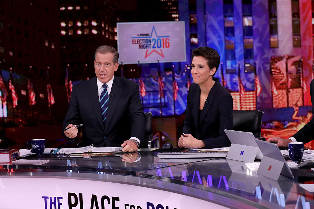 Brian Williams with Rachel Maddow, Election Night 2016
