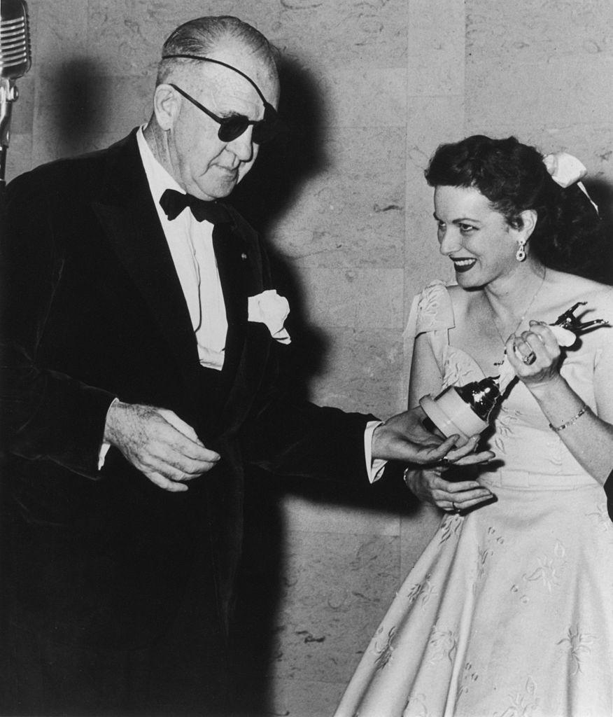 American actress Maureen O'Hara and film director John Ford