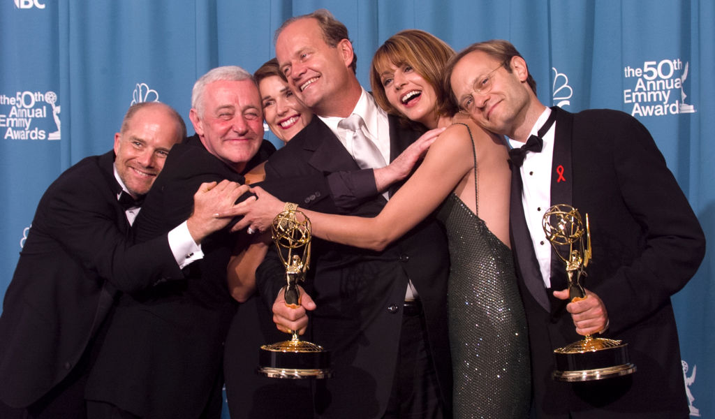 Jane Leeves (second from right) with the cast of 'Frasier'