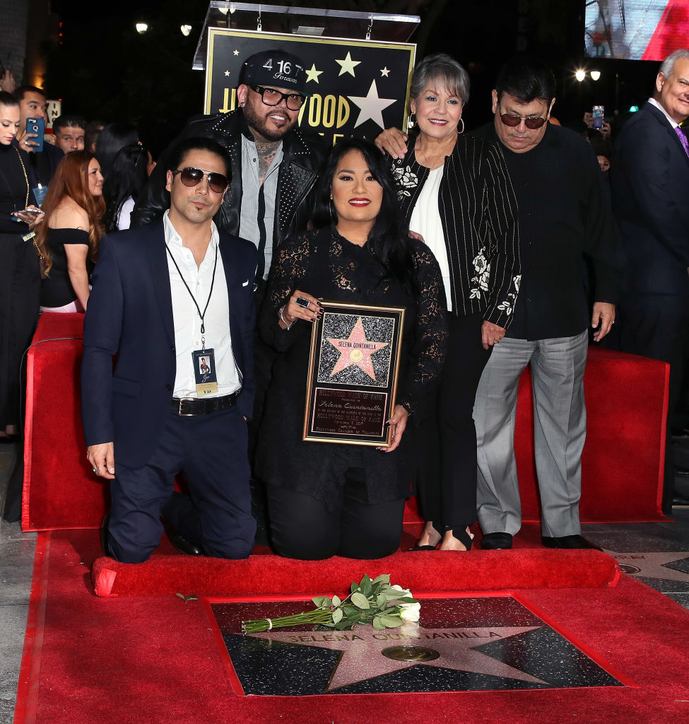 Selena Quintanilla-Perez's husband and family attend ceremony awarding her a posthumous Hollywood Walk of Fame star in 2017