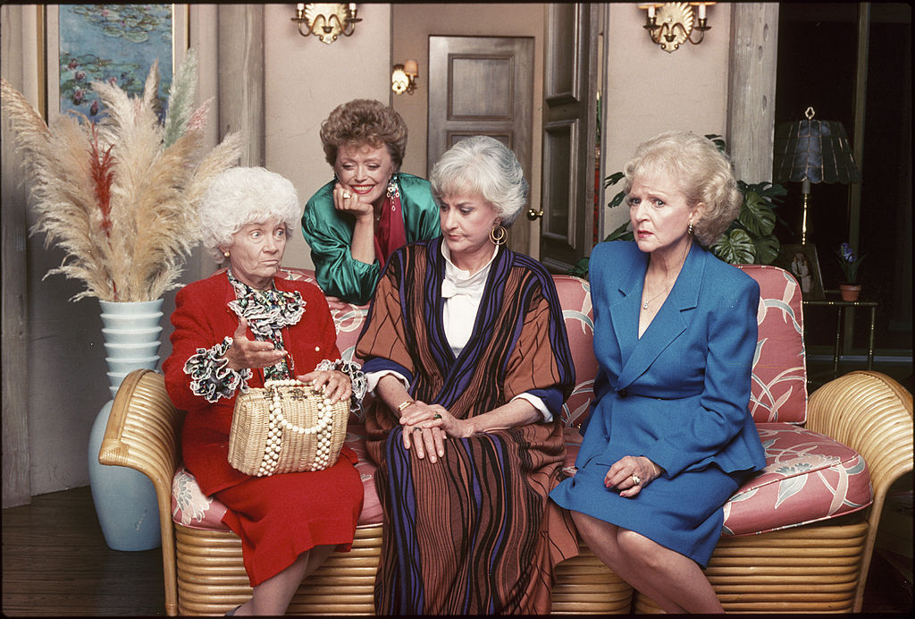 The cast of 'The Golden Girls': Estelle Getty, Rue McClanahan, Bea Arthur, and Betty White