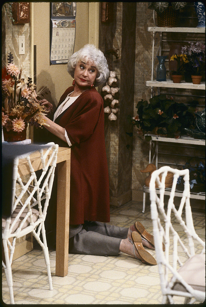 Actress Bea Arthur in a scene from 'The Golden Girls'