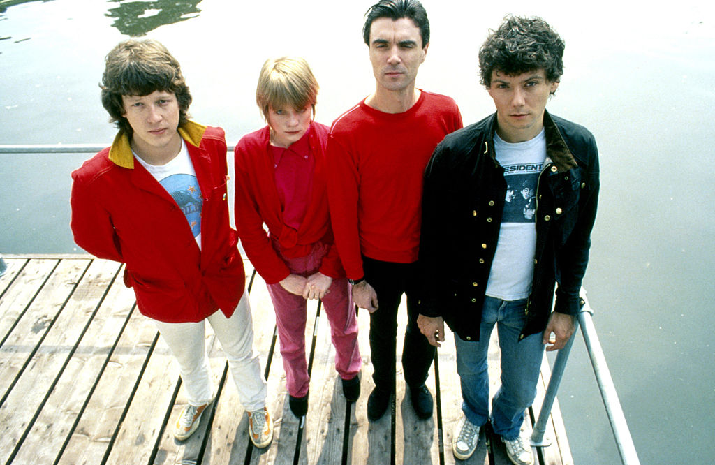 Talking Heads pTalking Heads members (L-R) Chris Frantz, Tina Weymouth, David Byrne, and Jerry Harrison