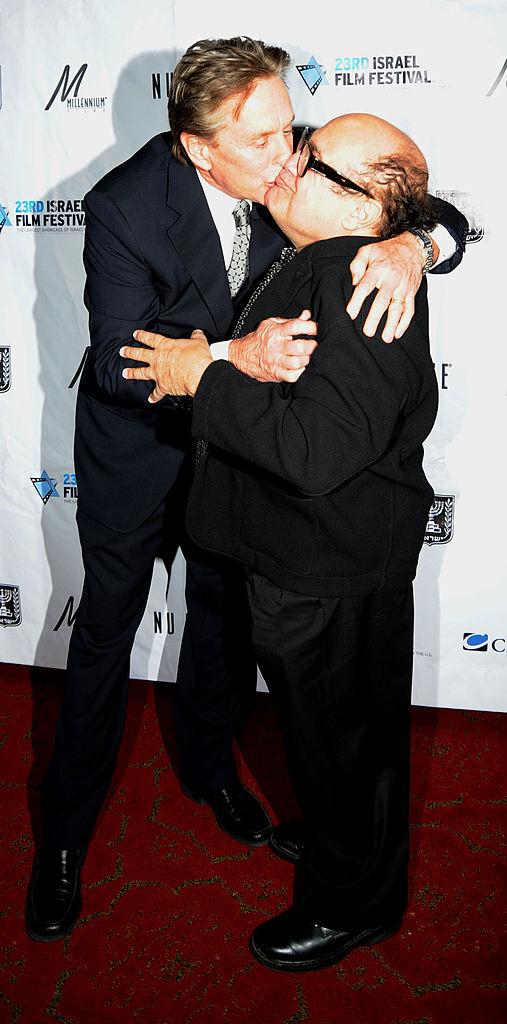 Michael Douglas with Danny DeVito, 2008