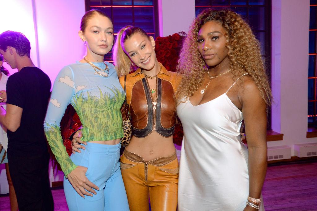 (L-R) Gigi Hadid, Bella Hadid, and Serena Williams | Brad Barket/Getty Images for YouTube