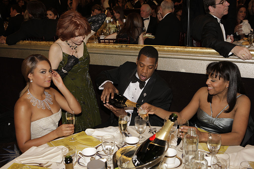 Jay Z and Beyonce at the Golden Globes