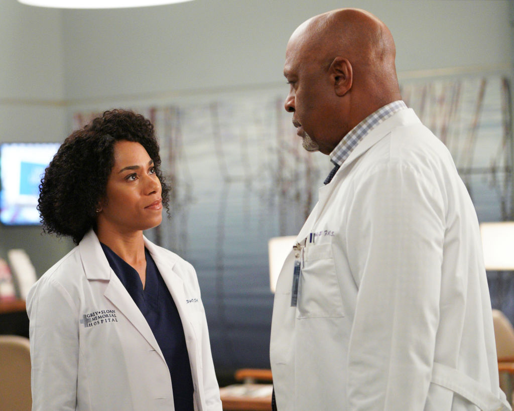 Kelly McCreary and James Pickens Jr. in 'Grey's Anatomy'