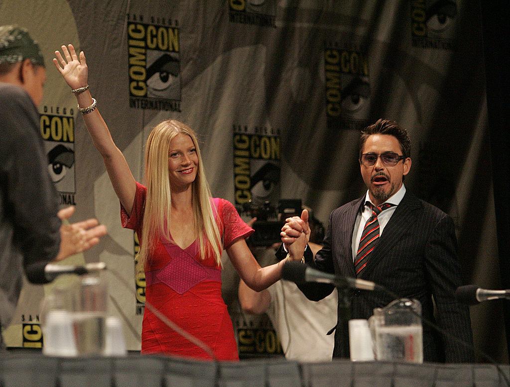 Gwyneth Paltrow and Robert Downey Jr. Pepper Potts and Iron Man MCU