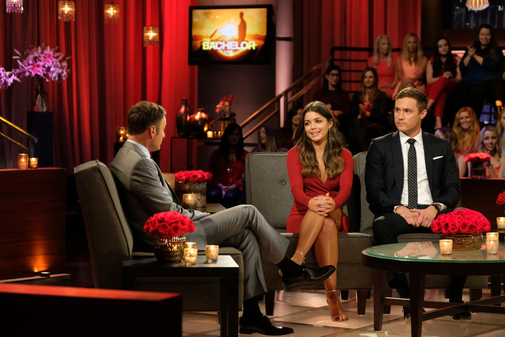 Chris Harrison, Hannah Ann Sluss, and Peter Weber on 'The Bachelor' - Season 24
