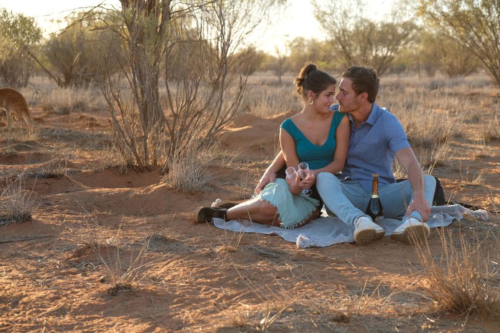 Hannah Ann Sluss and Peter Weber in Australia during 'The Bachelor'