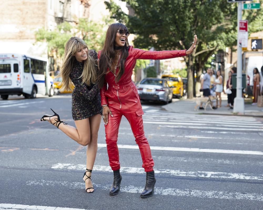 Heidi Klum and Naomi Campbell