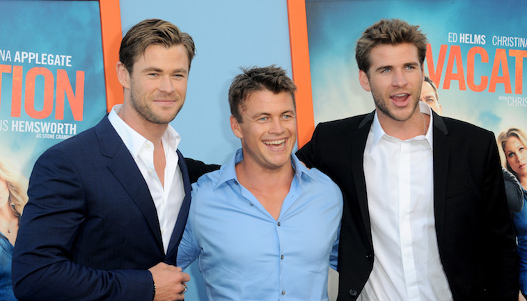 Luke, Liam, and Chris Hemsworth