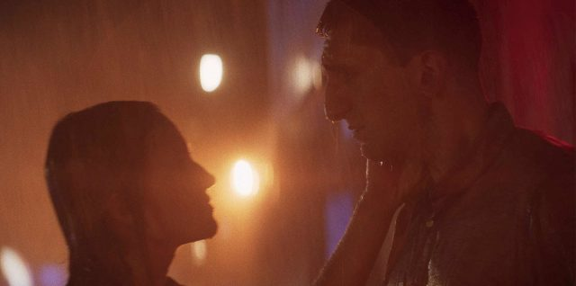 A still from 'Inside the Rain' featuring stars Ellen Toland and Aaron Fisher