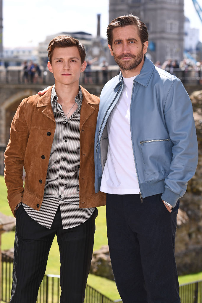 Jake Gyllenhaal and Tom Holland of 'Spider-Man: Far From Home' Mysterio and Parker