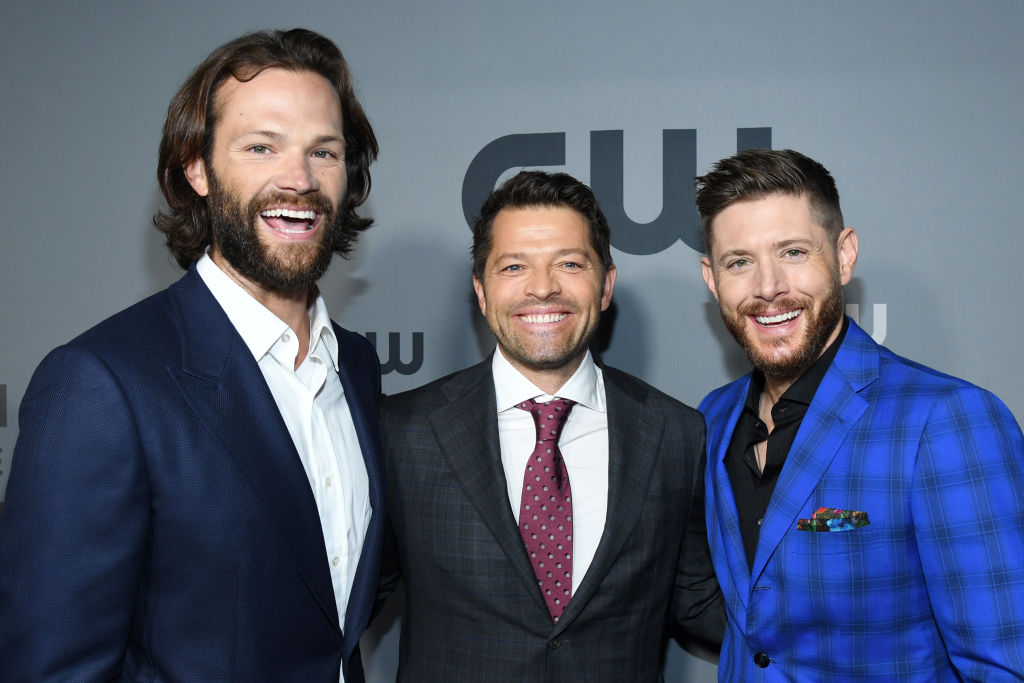 "Jared Padalecki, Misha Collins, and Jensen Ackles of ""Supernatural"" attend the The CW Network 2019 Upfronts at New York City Center on May 16, 2019 in New York City."