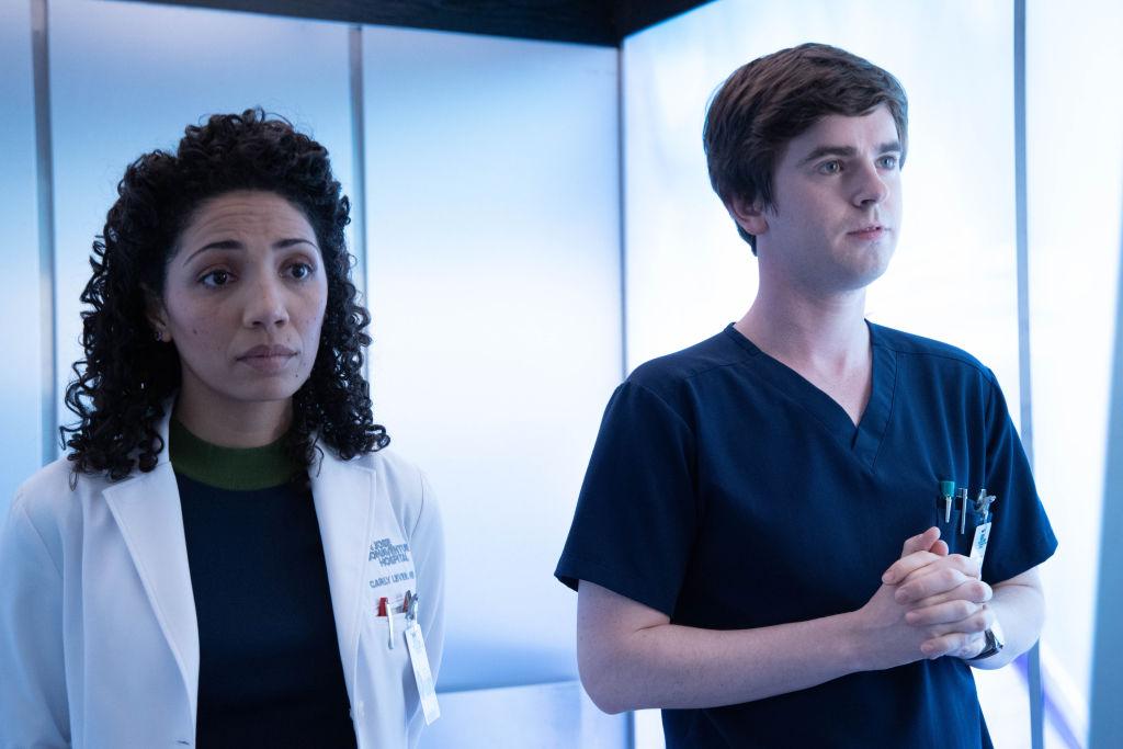 Jasika Nicole and Freddie Highmore | Jack Rowand/ABC via Getty Images