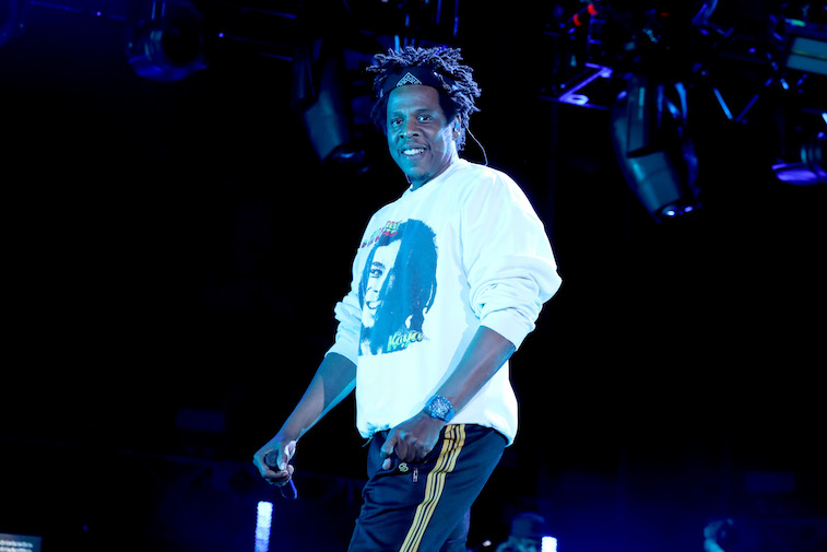 Jay-Z performs onstage