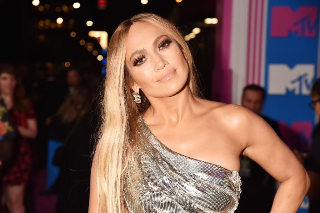 Jennifer Lopez on the red carpet at an award show in August 2018