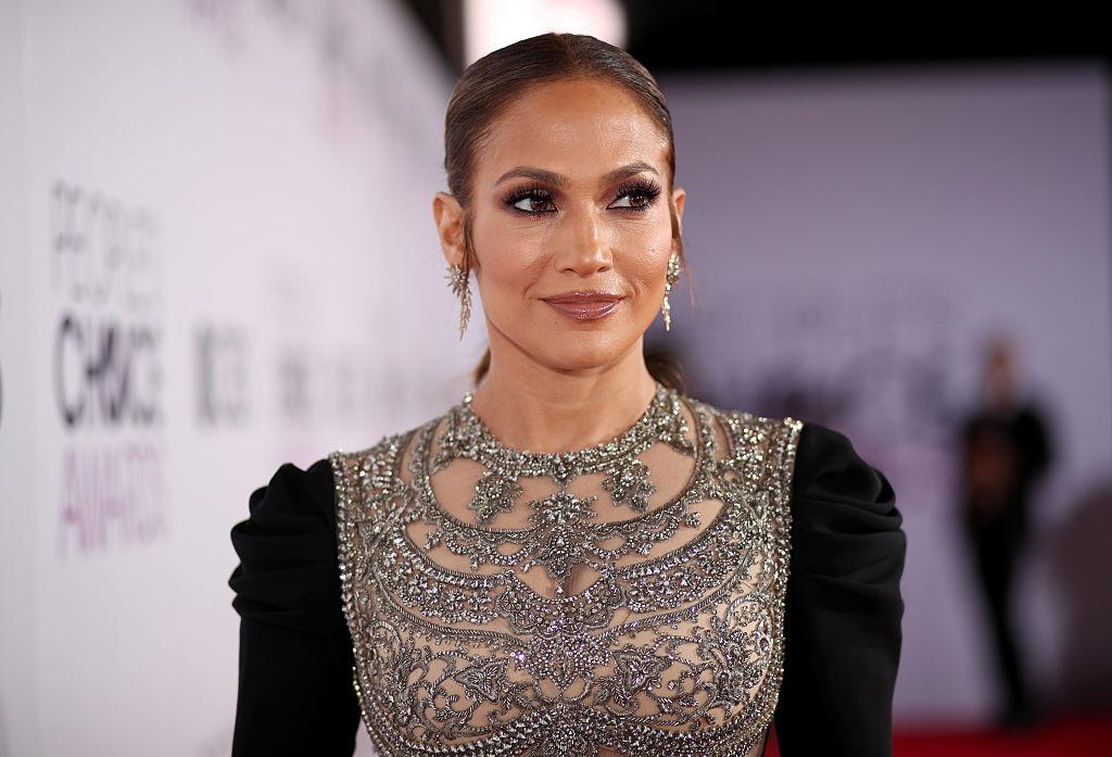 Jennifer Lopez at an award show in January 2017