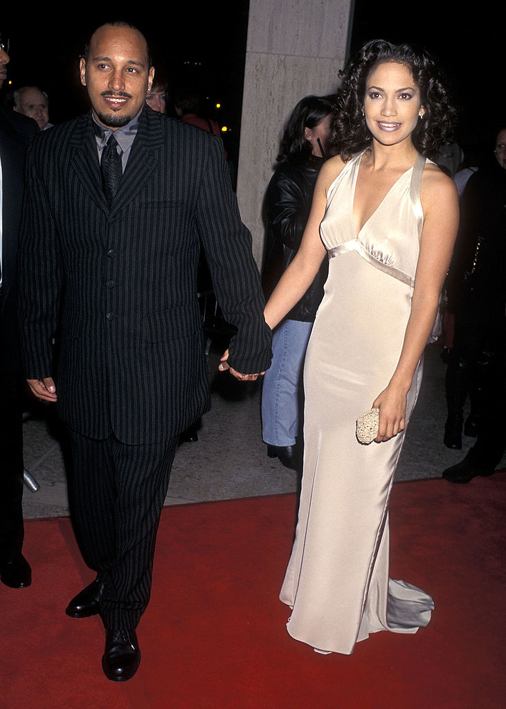 Jennifer Lopez and David Cruz at the 'Money Train' premiere on November 12, 1995 in Century City, California