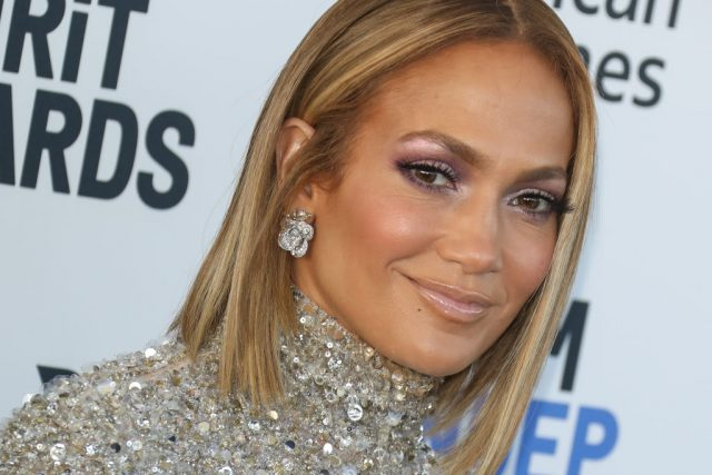 Jennifer Lopez attends the 2020 Film Independent Spirit Awards on Feb. 8, 2020