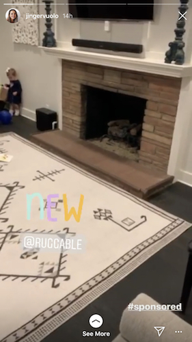 Jinger Duggar just received a new rug for her big living room