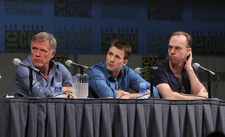 Joe Johnston, Chris Evans and Hugo Weaving