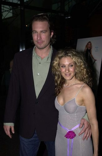 John Corbett and Sarah Jessica Parker at the premiere of 'Sex and the City' on June 1, 2000