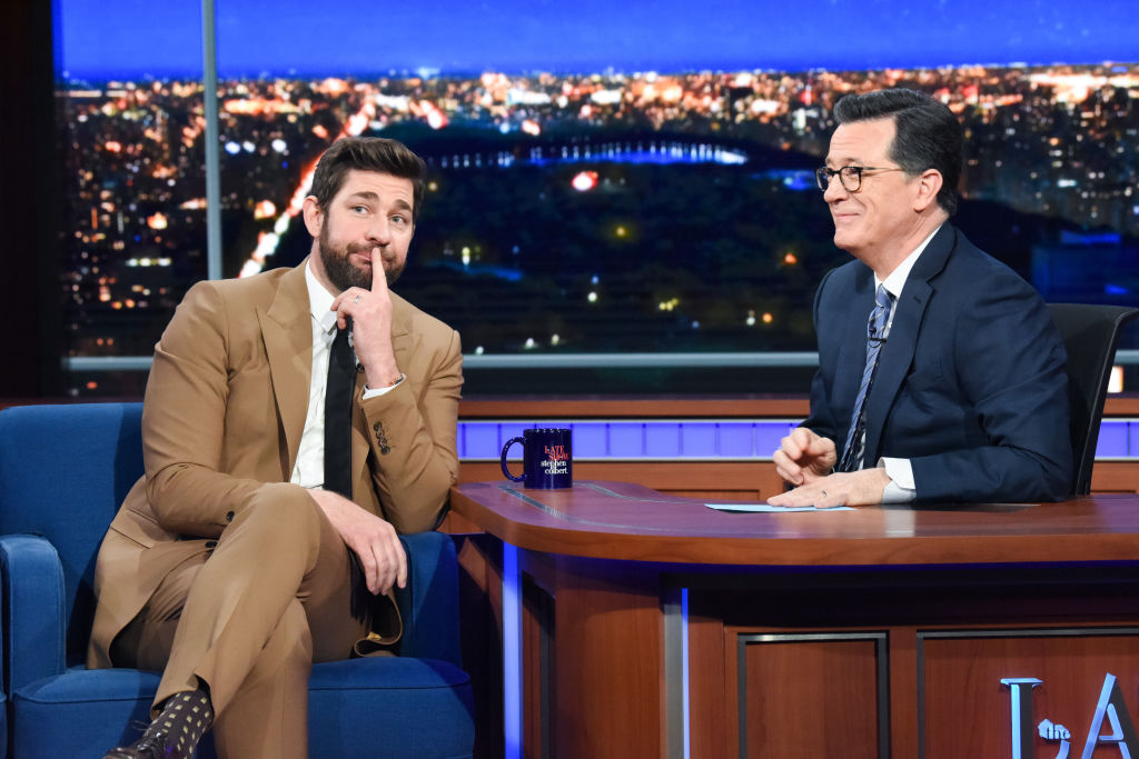 The Late Show with Stephen Colbert and guest John Krasinski