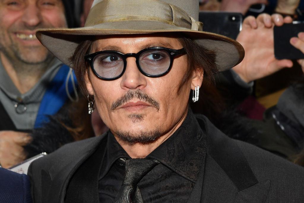 Johnny Depp wearing a fedora