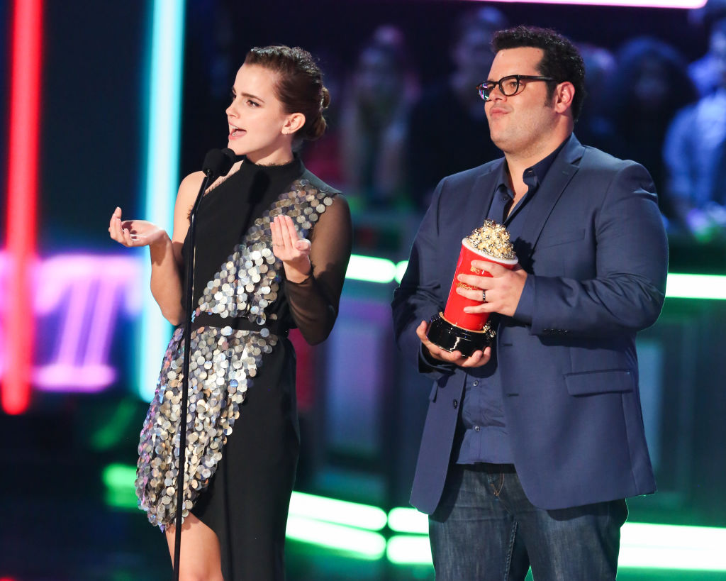 Actors Emma Watson  and Josh Gad of Disney's live-action 'Beauty and the Beast'