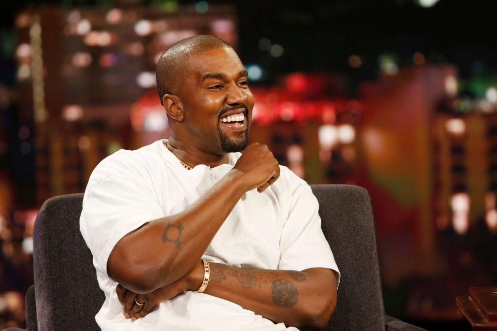 Kanye West laughing