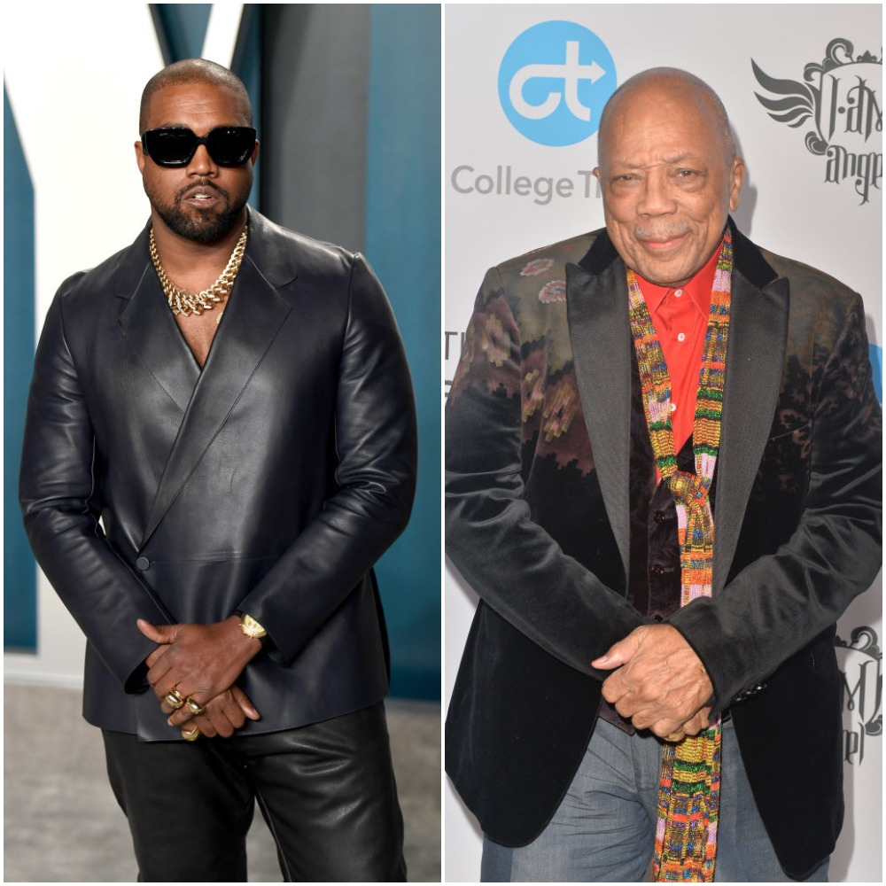 Kanye West and Quincy Jones