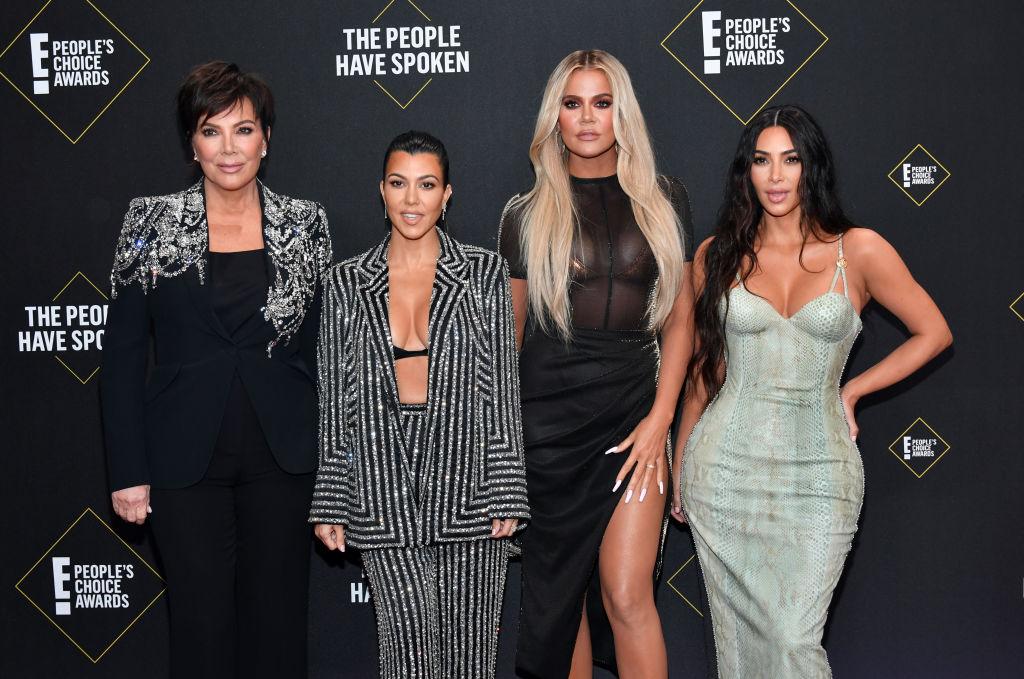 Kris Jenner, Kourtney Kardashian, Khloé Kardashian, and Kim Kardashian West at the 2019 E! People's Choice Awards