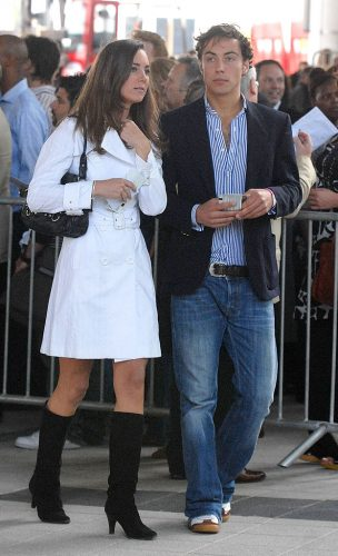 Kate Middleton and James Middleton arrive at The Concert for Diana on July 1, 2007