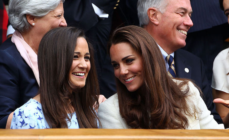 Kate Middleton with her younger sister, Pippa, in 2012